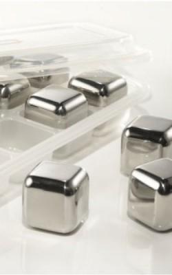Accessoire – Cubes en Inox. Ensemble de 4 cubes et boîtier.