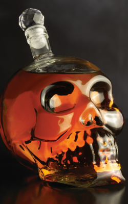 Bar/Cocktail – Skull décanteur en cristal
