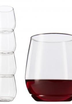 Accessoire – Verre incassable et empilable. Ensemble de 4 verres