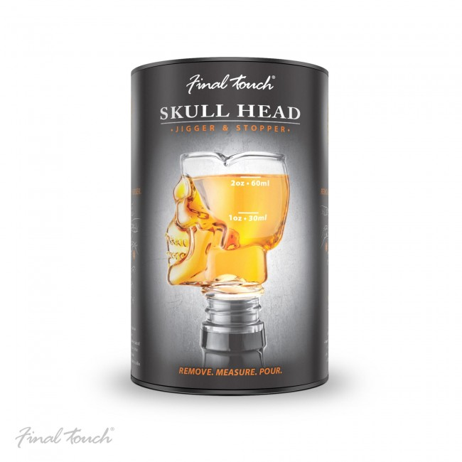 final-touch-skull-head-clear-jigger-stopper